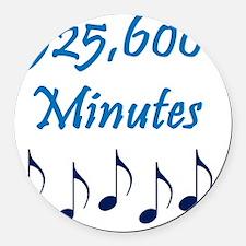 525600 Minutes Round Car Magnet