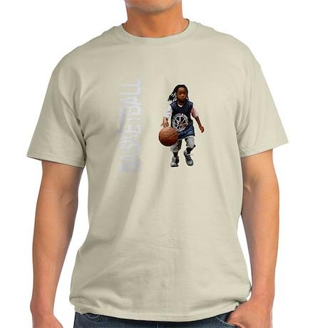 basketball_kid_dribble_1wht Light T-Shirt