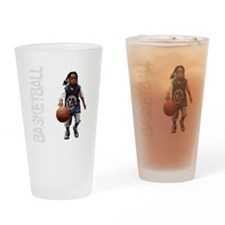 basketball_kid_dribble_1wht Drinking Glass