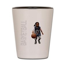 basketball_kid_dribble_1wht Shot Glass