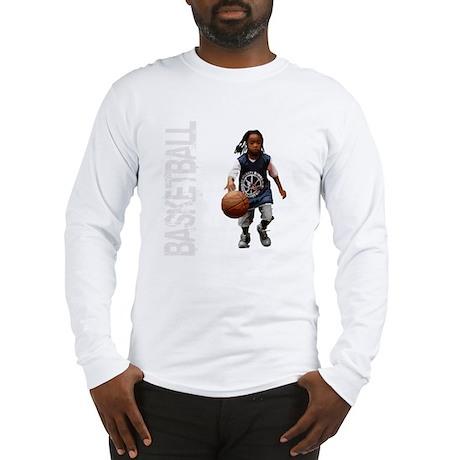 basketball_kid_dribble_1wht Long Sleeve T-Shirt