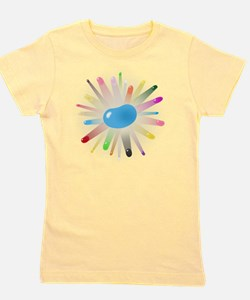 big_blue_jelly_bean_blowout Girl's Tee
