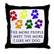 More People Throw Pillow