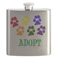 Rainbow Paws Adopt Flask