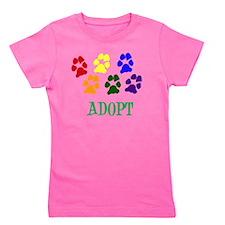Rainbow Paws Adopt Girl's Tee