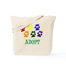 Rainbow Paws Adopt Tote Bag