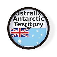 Antarctica1-WHITE Wall Clock