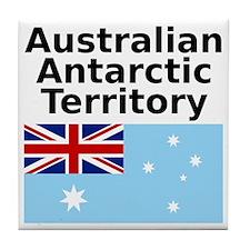 Antarctica1-WHITE Tile Coaster