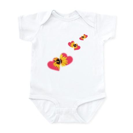 Sunflower Hearts Infant Bodysuit