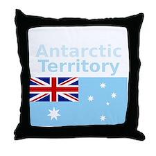 Antarctica1-DARK Throw Pillow
