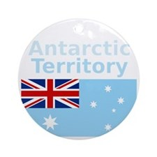 Antarctica1-DARK Round Ornament