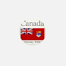Canada-Red-WWII-WHITE Mini Button