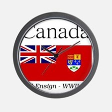 Canada-Red-WWII-WHITE Wall Clock
