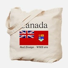 Canada-Red-WWII-WHITE Tote Bag