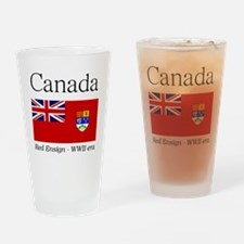 Canada-Red-WWII-WHITE Drinking Glass