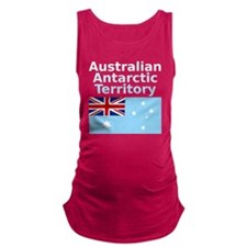 Antarctica1-DARK Maternity Tank Top