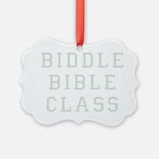 Biddle Bible Class Dark Ornament