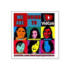 """VidConWarholTShirt Square Sticker 3"""" x 3"""""""