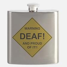 WARNING DEAF Flask