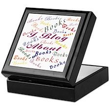 i_blog_about_books_blk Keepsake Box