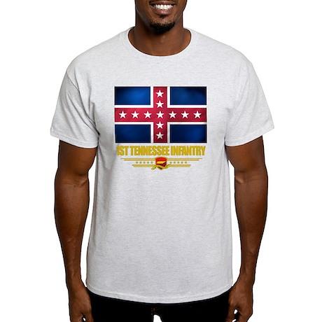 1st Tennessee Infantry (Flag 10) Light T-Shirt