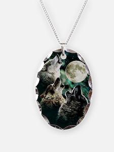 88503wolfmoo311n Necklace