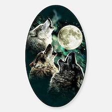 88503wolfmoo311n Sticker (Oval)
