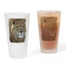 lion-portrait-t-shirt Drinking Glass