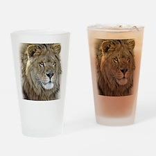 lion-portrait-t-shirt Drinking Glass