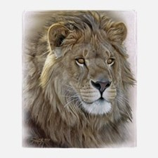 lion-portrait-t-shirt Throw Blanket