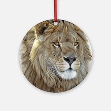 lion-portrait-t-shirt Round Ornament