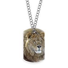 lion-portrait-t-shirt Dog Tags