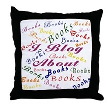 i_blog_about_books_10 Throw Pillow