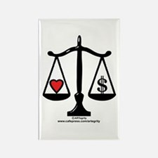 Balance of Love & Money Rectangle Magnet
