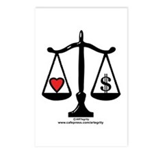Balance of Love & Money Postcards (Package of 8)