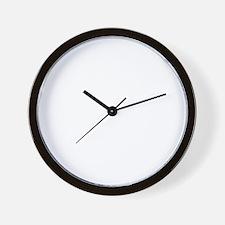 white on dark final Wall Clock