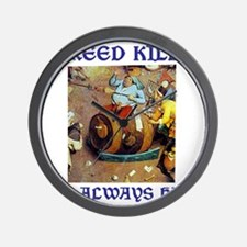 Greed Kills Wall Clock