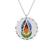 7x7ChaliceWordsDark Necklace Circle Charm