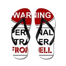 WARNING PERSONAL TRAINER Flip Flops
