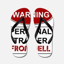 WARNING PERSONAL TRAINER Flip Flops
