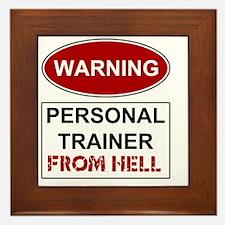 WARNING PERSONAL TRAINER Framed Tile