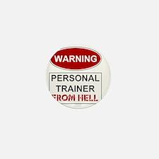 WARNING PERSONAL TRAINER Mini Button