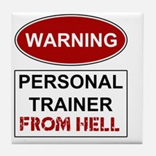 WARNING PERSONAL TRAINER Tile Coaster