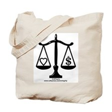 Balance of Love & Money Tote Bag