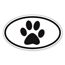 Paw Oval Bumper Stickers