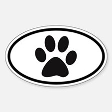 Paw Oval Decal