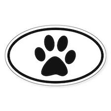 Paw Oval Stickers