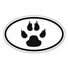 Paw Sticker with Claws(Oval)