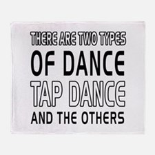 Tap danceDance Designs Throw Blanket