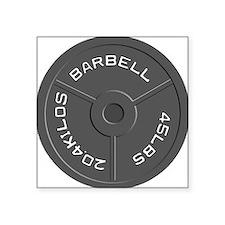 """Clock Barbell45lb Square Sticker 3"""" x 3"""""""
